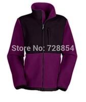 Fashion Outdoor  Women's Purple Color Jacket  Fleece High Quality Coat  No hoody 4 Colors 413
