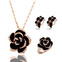 2014 New Design Hot Sale Austria Crystal Rose Jewelry Set  For Women ,TZ-1223B