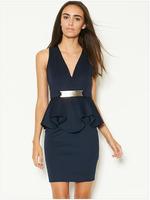 New Arrival! Fashion V-neck sleeveless ruffles Dress,Sexy Mini Clubbing Dresses, size M/L, DL21627