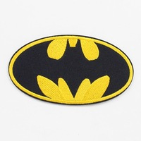 Lots 50pcs Batman Logo Fabric Embroidered Iron/Sew On Patch for Clothes DIY Crafts PA108