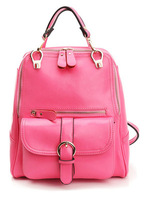 No MOQ 100% genuine leather  women backpacks, top quality ladies leather backpack