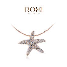Wholesale ROXI Fashion Accessories Jewelry CZ Diamond Austria Crystal Starfish Pendant Necklace Love Gift for Women