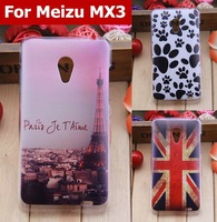 clear good printed PC Hard Case for Meizu MX3 ABS back cover protector assorted patterns UK flag babay girls Free shipping