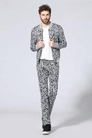 PROMOTION XXXL PLUS SIZE HIGH QUALITY!! Men PARIS eyes print structured stylish neoprene tracksuits clothing set N60046