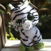 "IN HAND! MINT ~Ty Original  beanies Boo Big eyes Animal ~ZIG ZAG Zebra 6"" Reg size Plush doll  Stuffed TOY BEST free ship"