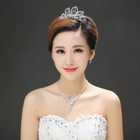 Spot wholesale bridal jewelry bridal necklace cheap supply crystal necklace wedding jewelry piece