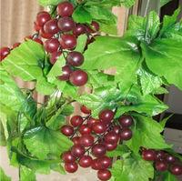 5x Artificial Grape Vine Simulation Plants Silk Cloth Flowers For Decoration Fake Grapes 2.4m Length Plant Vines