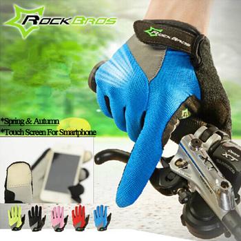 Rockbros сенсорный экран non-slip дышащий велосипед Bicicleta велосипед полный палец ...
