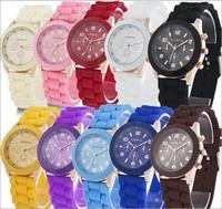 Cheap Fashion Classic Geneva Women Quartz Watch Jelly Candy Colors Silicone Strap Casual Wristwatches Relogios Femininos