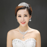 Two-piece bridal wedding jewelry bridal headdress new upscale bridal headdress wholesale jewelry piece summer
