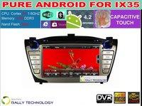 "2014 HD 7"" Car Pure Android 4.2 3G WiFi Auto Stereo DVD GPS TV For Hyundai Tucson IX35 + WiFi Dongle +Hyundai CanBus"