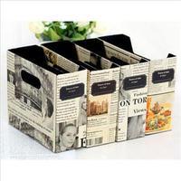2014 New DIY Paper Newspaper Storage Box Eco-Friendly Desk Decor Cosmetic Organizer