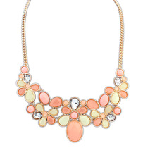 2014 New Fashion  Shourouk Chain Choker Vintage Rhinestone  Bib Statement Necklaces & Pendants Women Jewelry