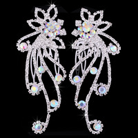Korean hair accessories bridal wedding dress essential wholesale rhinestone tiara comb around in pairs