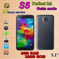 Real fingerprint 1:1 original s5 phone MTK6582 quad core 2G ram 32G rom Waterproof i9600 phone Heart beat sensor Mobile phone