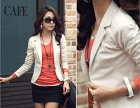 2014 New Women Fashion Spring Autumn Fall Long Sleeve Single Button Blazers Lady Small Casual Blazer Jacket