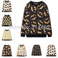 [Amy] 2014 new style fashion women hoodies loose cartoon Long sleeve hamburger women's no fleece 3D sweatshirt  6model size free
