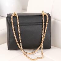 2014 Bolsa Newest Arrival Women's Shoulder Bag Chain Vintage Messenger Bags Leather Cross-section Women Handbags, free Shipping