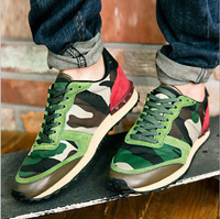 Free shipping men shoes new fashion leisure camouflage running shoes Men's sneakers