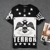 DQ-30 Boy London Harajuku Fashion Casual Slim Short sleeve Cotton Summer Fitness men TERROR T shirt tee shirts hiphop dsq men