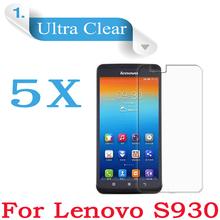 5pcs/lot Original Lenovo S930 Smartphone Quad Core 6.0″inch HD Clear Glossy Protective Film For Lenovo s930 Screen Protector