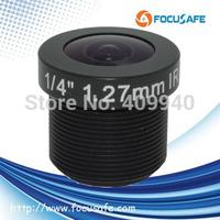 "Megapixel 1.27mm Fisheye Lens with 1/4"" format sensor"