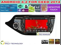 New Capacitive Screen Android PC 4.2 Car DVD GPS For Kia Ceed 2014 With Bluetooth TV OBD DVR Built in WiFi 3G