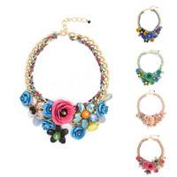 Necklaces & Pendants Hot Sale Transparent Big Resin Crystal Flower Vintage Choker Statement Necklace Fashion Jewelry CX212