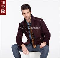 2014 New Men's Upscale Wool Coat Fall&Winter Men Warm Overcoat Causal Woolen Outwear Man Slim Fit Jacket Fashion Business Coats
