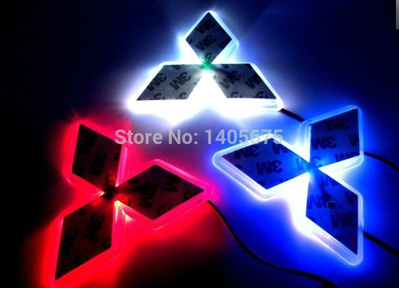 option one,car logo light for Mitsubishi Lancer/Lioncei,car badge lightings,auto led light,auto emblem led lamp 7.6cm X 8.7cm(China (Mainland))
