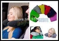 50pcs car Travel Sleeping Pillow Air Inflatable Neck Pillow U-Shaped Pillow Inflatable Neck Air Cushion Inflatable headrest