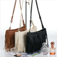 Tassel Women Leather Handbags Cross Body Shoulder Bags Fashion Messenger Bags Free shipping M0004