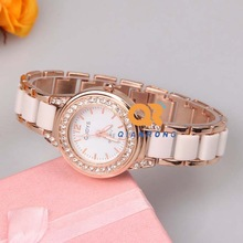 TOP Elegant leisure lady brand watch Crystal ceramic watches women rhinestone dress wrist watch High quality