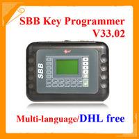 DHL free 2014 Universal SBB Key Programmer By Immobilizer For Multi-Brands SBB Silca V33.02 / V33 Auto Car Key Maker