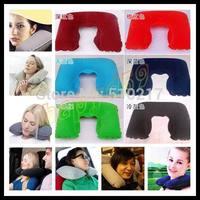 200pcs car Travel Sleeping Pillow Air Inflatable Neck Pillow U-Shaped Pillow Inflatable Neck Air Cushion Inflatable headrest