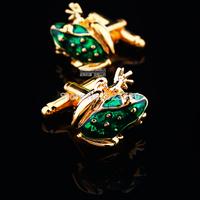 (XK005)Free Shipping, Golden Frog Cufflinks, Vivid Animal Modelling Cufflinks, Interesting Men's Shirts Cufflinks