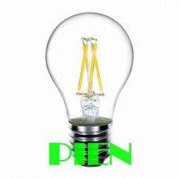 6W 4W Filament Led bulb A19 E27 220V 360 Degree Warm White Energy Saving 2014 New Free shipping 5pcs/lot