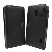 Black Flip Leather Case Cover + Film for LG OPTIMUS EXTREME L40G D160 D170 a