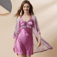 High Quality Clothes Nordic Set Ladies Bra Lingerie Cotton Pyjamas Ailanthus Silk Luxury Nightgown Magicdream Brand YP1203317