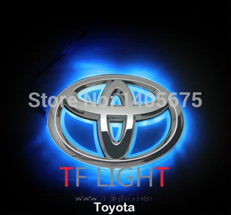 option one,car logo light for TOYOTA Yaris,car badge light,auto led light,auto emblem led lamp 7.5*11cm(China (Mainland))