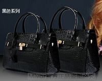 2014 new fashion light crocodile pattern shoulder handbag