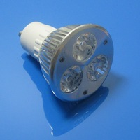 Free shipping High Power GU10 3W dimmable GU10 LED lamp, 85-260v 3W LED White spot light