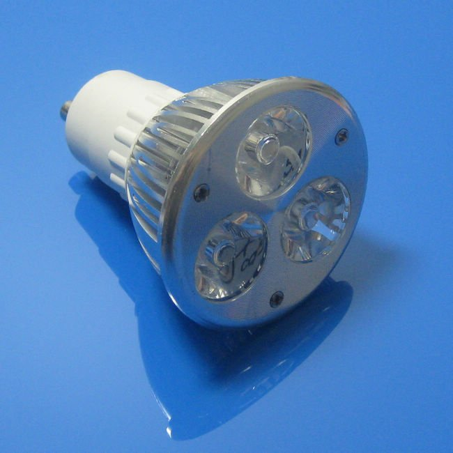 Free shipping High Power GU10 3W dimmable GU10 LED lamp, 85-260v 3W LED White spot light(China (Mainland))