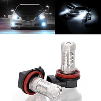 2 Pcs New XENON H16 PGJ19-3 19W/80W Pure White Led Car Bulb OEM Fog Running Driving Light Lamp For Toyota RAV4 and Japanese Cars
