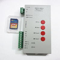T1000S SD Card LED Pixel Controller For WS2812B LPD8806 6803 WS2811 WS2801 5-24V