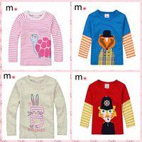 New 2014 Spring Autumn 100% Cotton BoysT-shirt Top Long Sleeve Tshirts Boys/girls TopChildrens Kids Chothing Full Sleeve