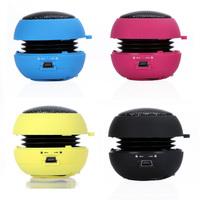 4 Colors Portable pocket Mini Hamburger Speaker for iPhone iPad iPod Laptop PC MP3 Audio Amplifier Wholesale