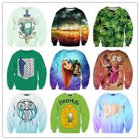 Lovely Designs Various One Size Unisex  3D Hoodies Cute Cartoon Animal Theme Pullover Sweatshirt
