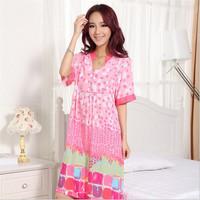 Autumn Chemise Female Sleep Dress Ailanthus 100% Cotton Pyjamas Unique Emulation Comfortable Magicdream True Brand YP1203617