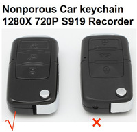 Car Key Camera Hidden Camera Nonporous Car keychain Audio Video Recorder Range up to 8 Meters Support TF Card up to 32GB